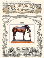 First Love Sculpture on Cover of The Chronicle of the Horse Magazine