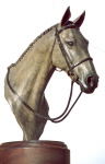 Bronze horse portrait commissioned by owner.