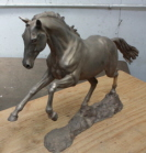 Commission bronze horse sculpture