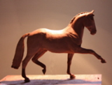 Horse statues by Mary Sand : Dressage horse