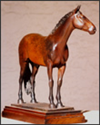 Commissioned bronze sculpture of horse